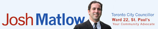 Josh Matlow - Toronto City Councillor Ward 22