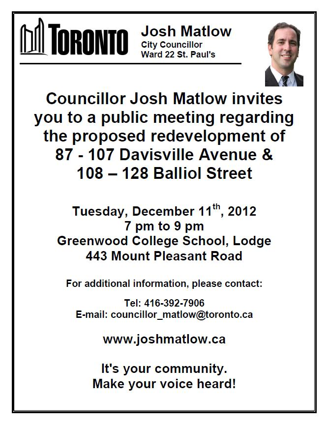 Davisville Balliol Public Meeting