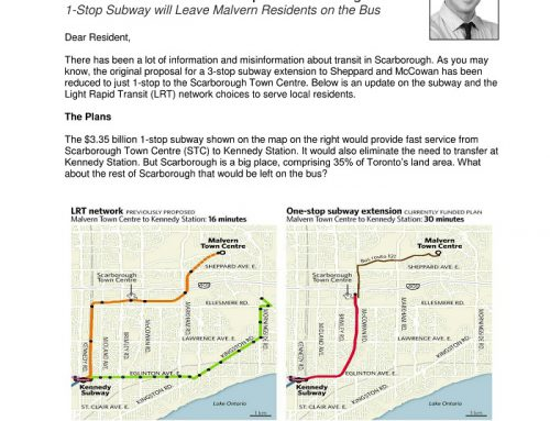 1-Stop Subway will Leave Malvern Residents on the Bus