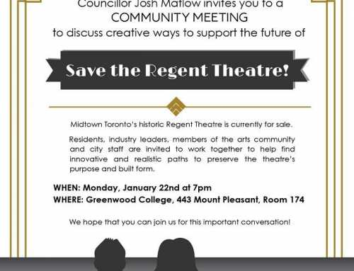 Town Hall Meeting to Save the Regent Theatre!